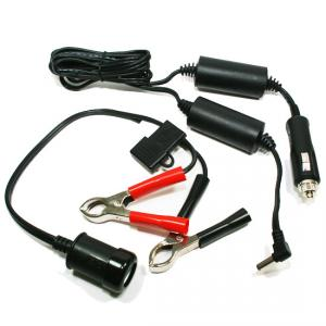 Shielded DC Power Cord with Battery Adapter for 60 Series System One Devices